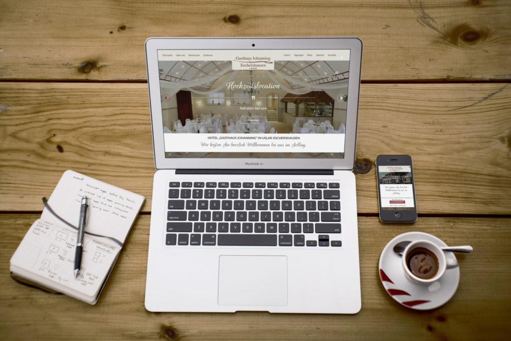 Gasthaus-Johanning.de Homepage erstrahlt in neuem Gewand - für PC und Handy optimiert