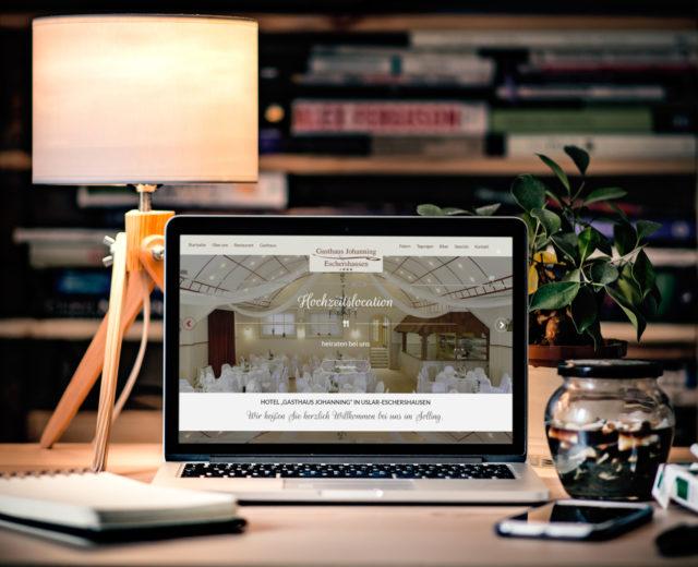 Gasthaus-Johanning.de Homepage erstrahlt in neuem Gewand